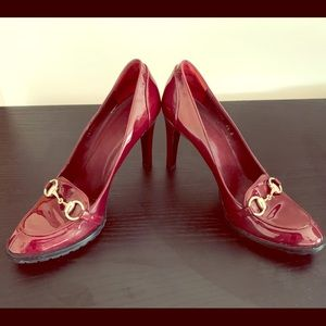 Gucci-Ruby Red Patent Loafer Pump